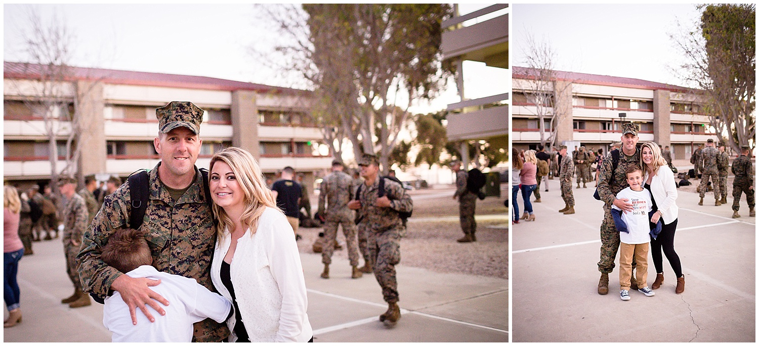 camp pendleton homecoming photographer