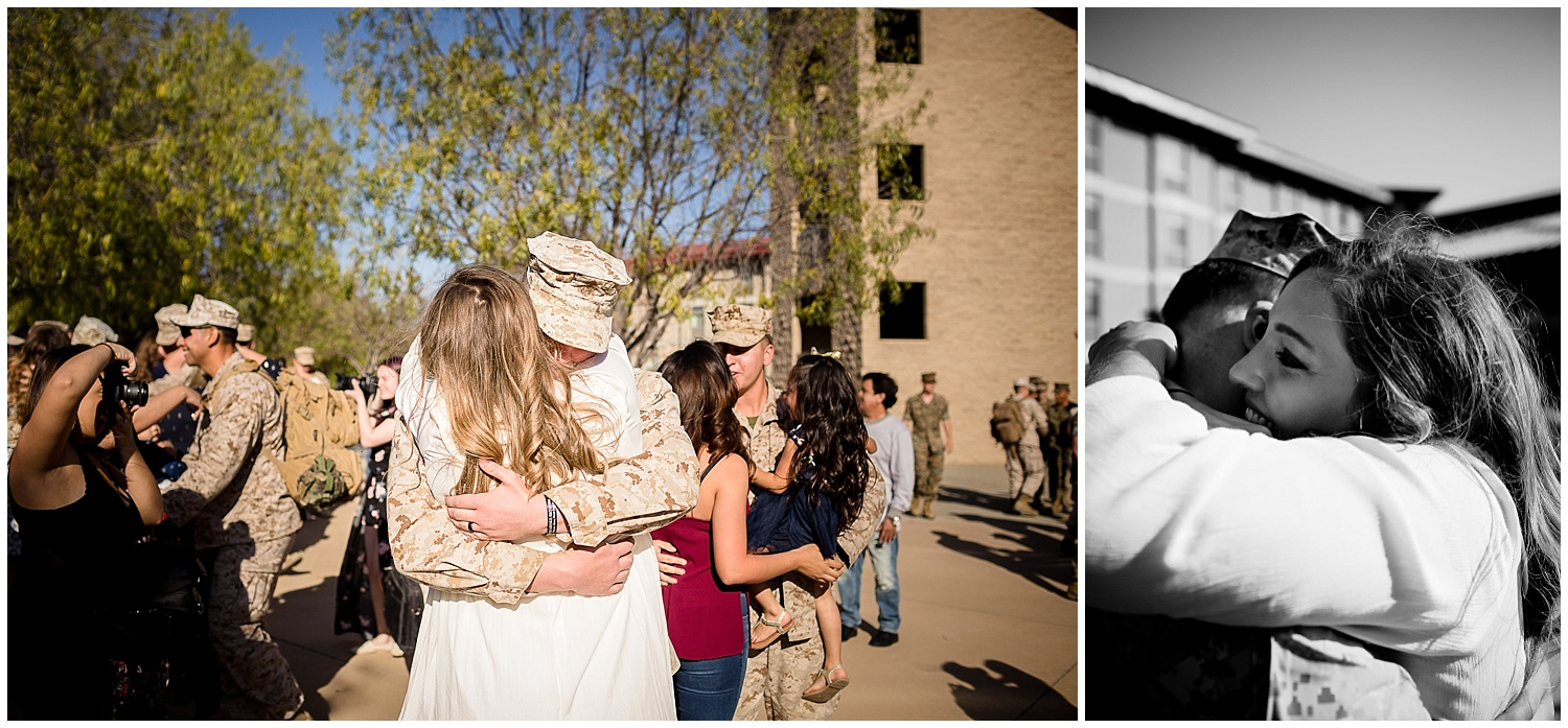 camp pendleton military homecoming photographer