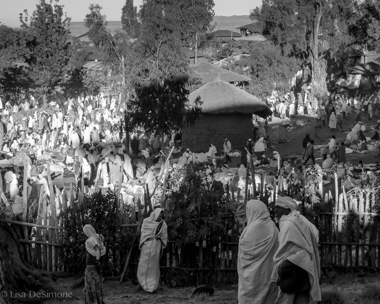 The pilgrim camp