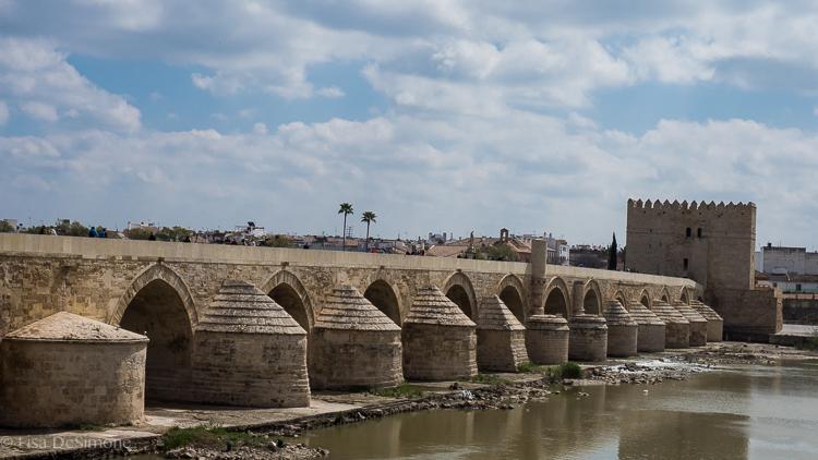 The Roman Bridge in Cordoba, Spain