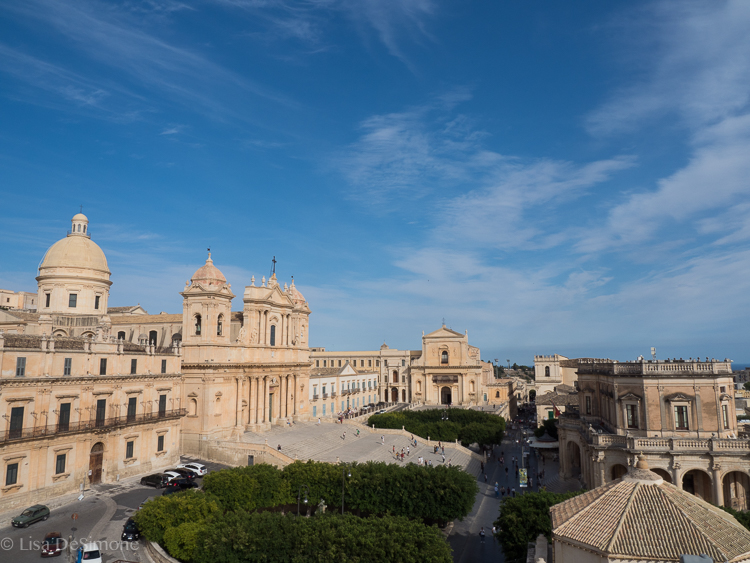 View of Noto from the bell tower