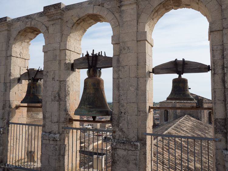 Atop the bell tower in Noto
