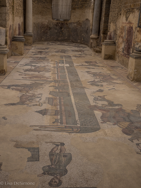 One of several large mosaics at Villa Romana