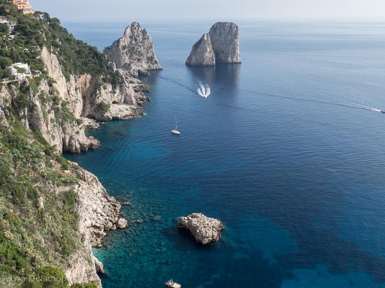 50 shades of blue surround the Island of Capri.