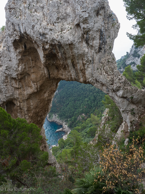 Arco Naturale on the east coast of the Island of Capri.