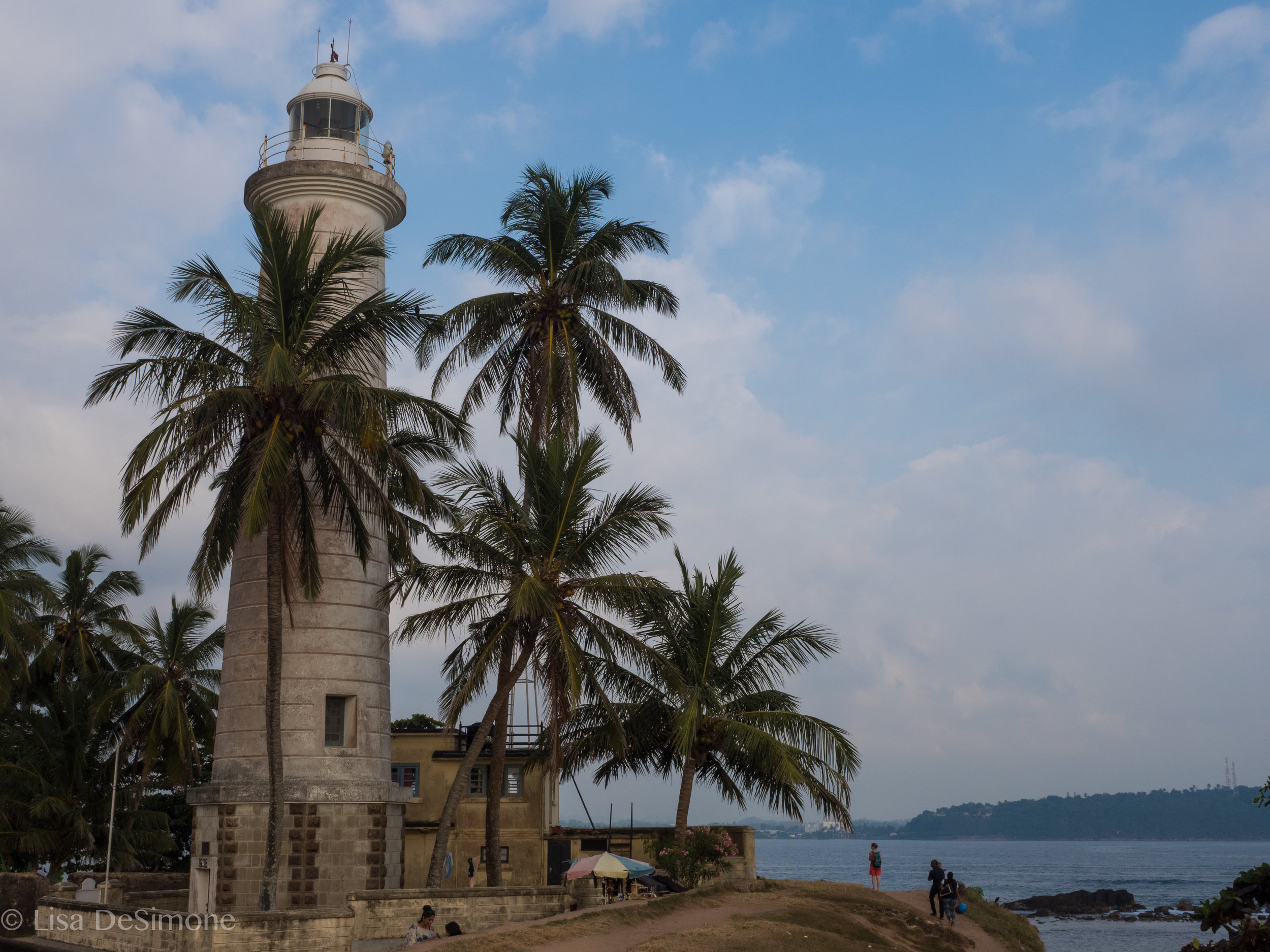 The landmark 18m high lighthouse in Galle, from 1938 and still in use today