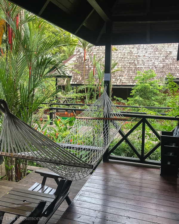 My chalet at the  Sepilok Nature Resort in Borneo