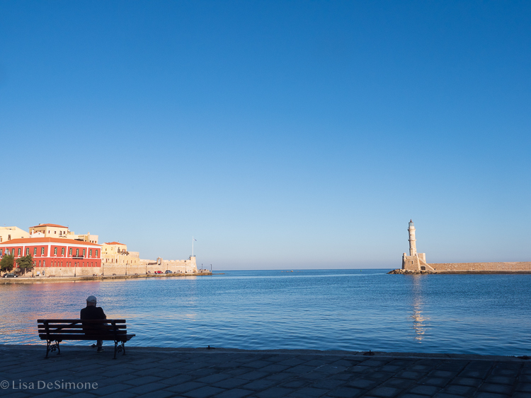 The port town of Chania, Crete
