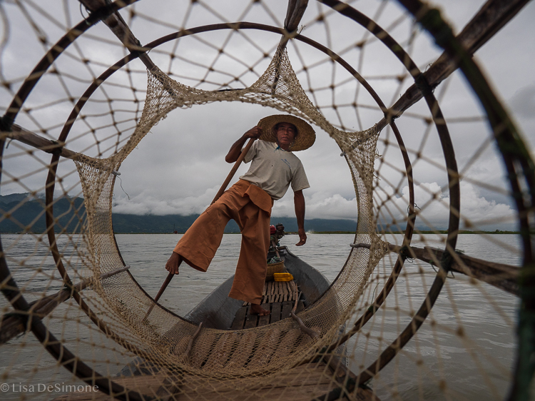 One of the famous fisherman of Inle Lake