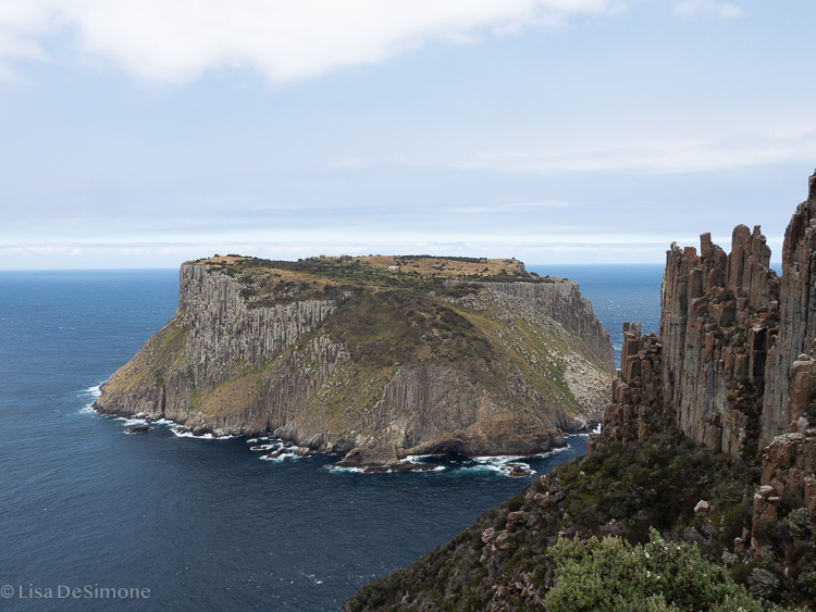 A view of Tasman Island from day 3 of the Three Capes Track walk