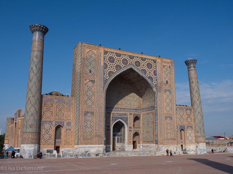 Ulugbek Madrassa at Registran Square in Samarkand, Uzbekistan