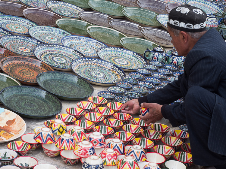 One of the many vendors in Bukhara, Uzbekistan