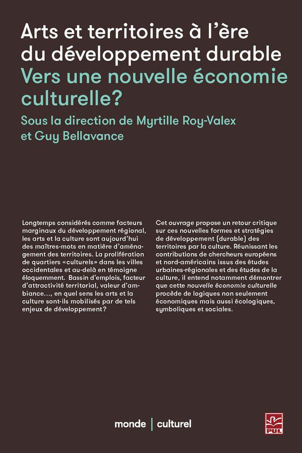 Couverture « Art et Territoire à l'ère du développement durable : vers une nouvelle économie culturelle? »