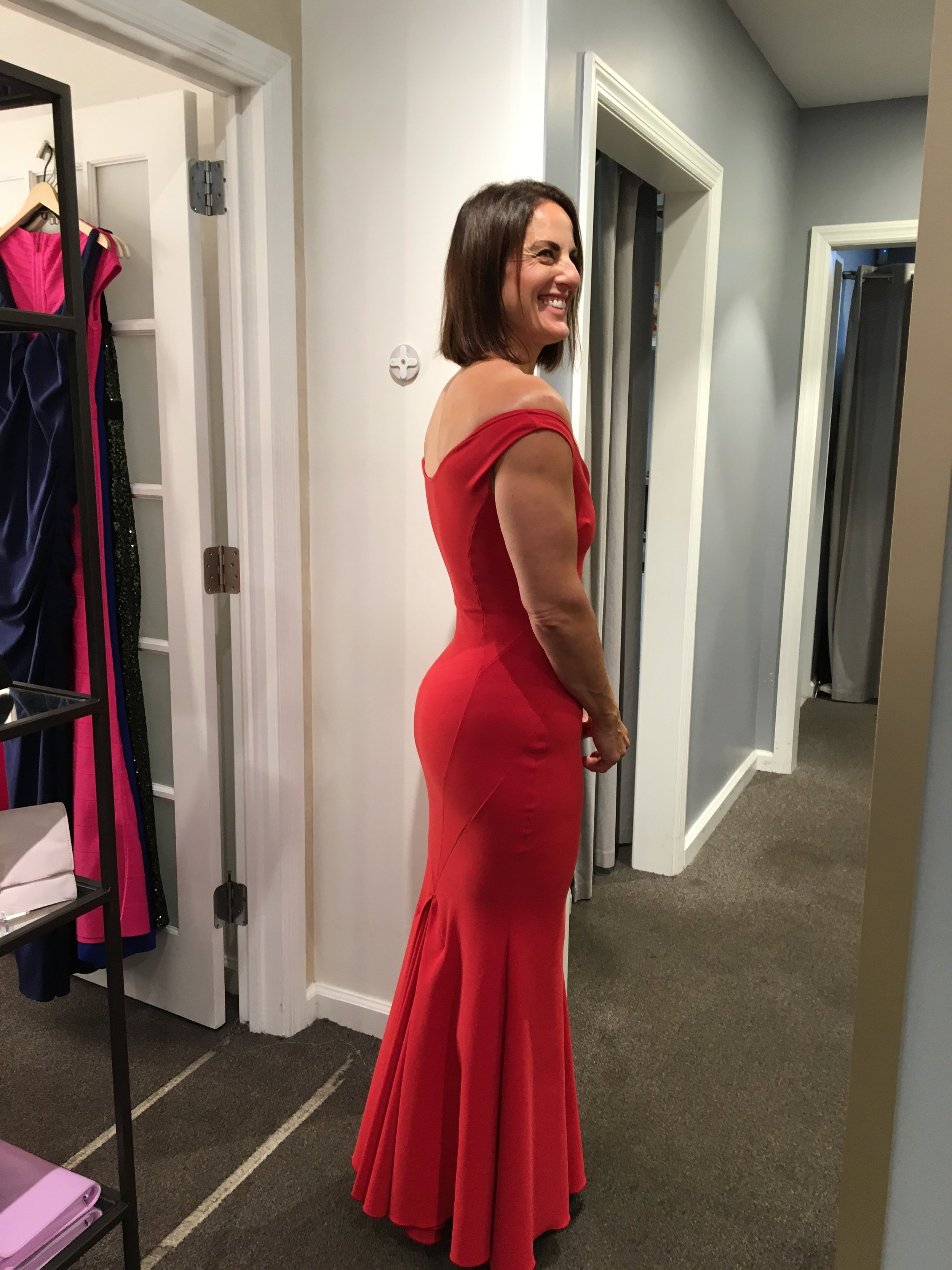 I do love a good red and, hello booty! But in the end this was too  Pretty Woman  and not enough  Sex in the City.