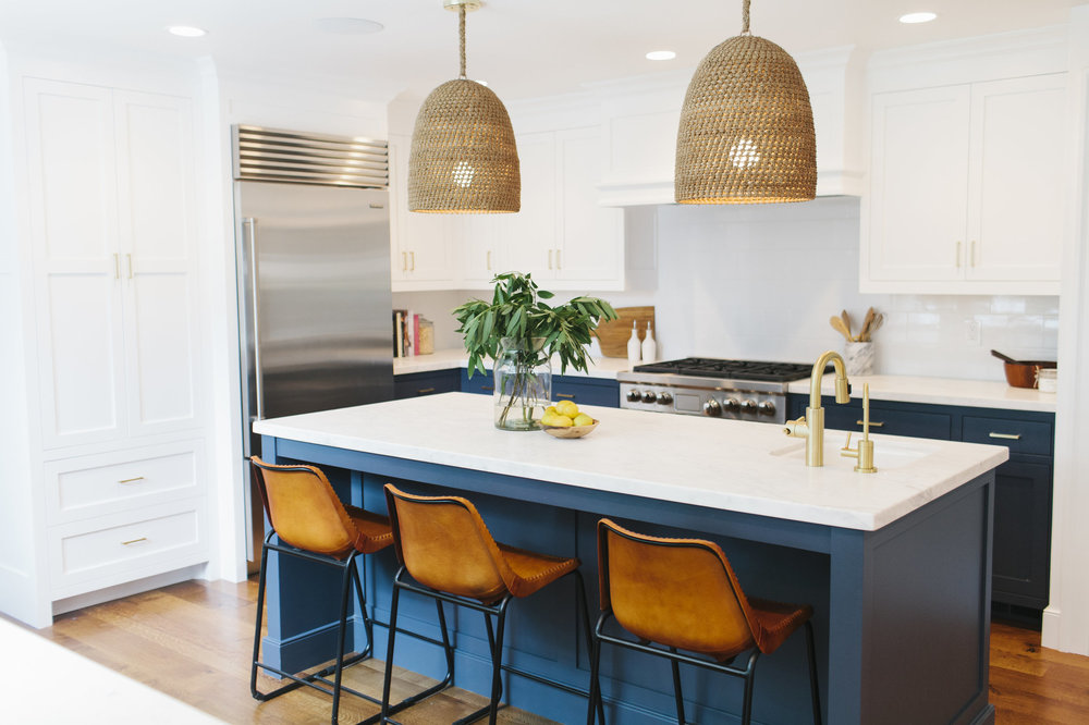 Hale Navy  by Benjamin Moore in our  Lynwood Remodel   design by: Studio Mcgee