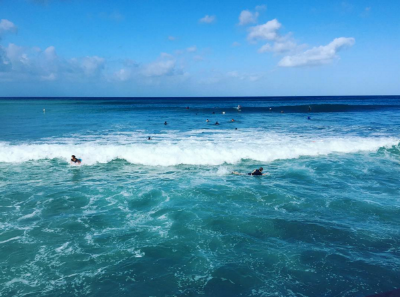 People surfing in Hawaii in 2015