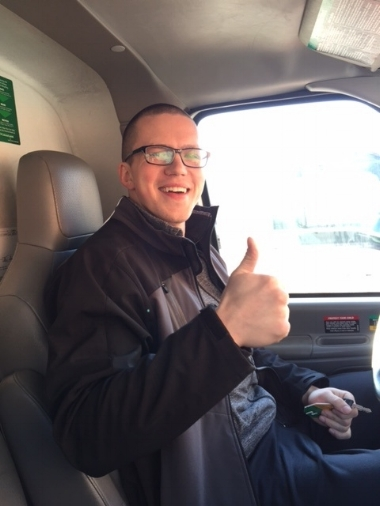 Mike about to drive the U-Haul!