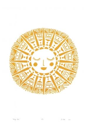 Beautiful Maya Sun print by  Lu West Studio