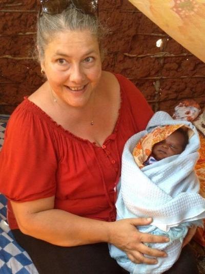 Vicky in Kenya, being amazing