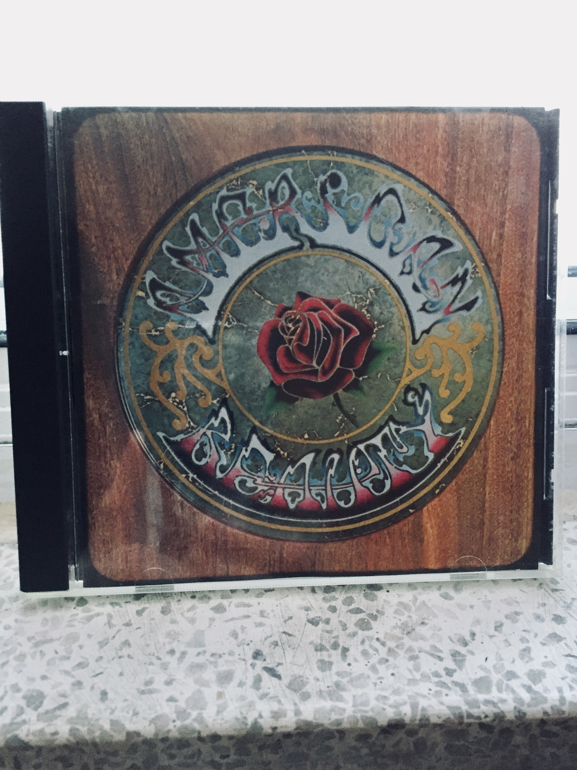 My dad's 'American Beauty' CD by the Grateful Dead. One of the best albums ever made