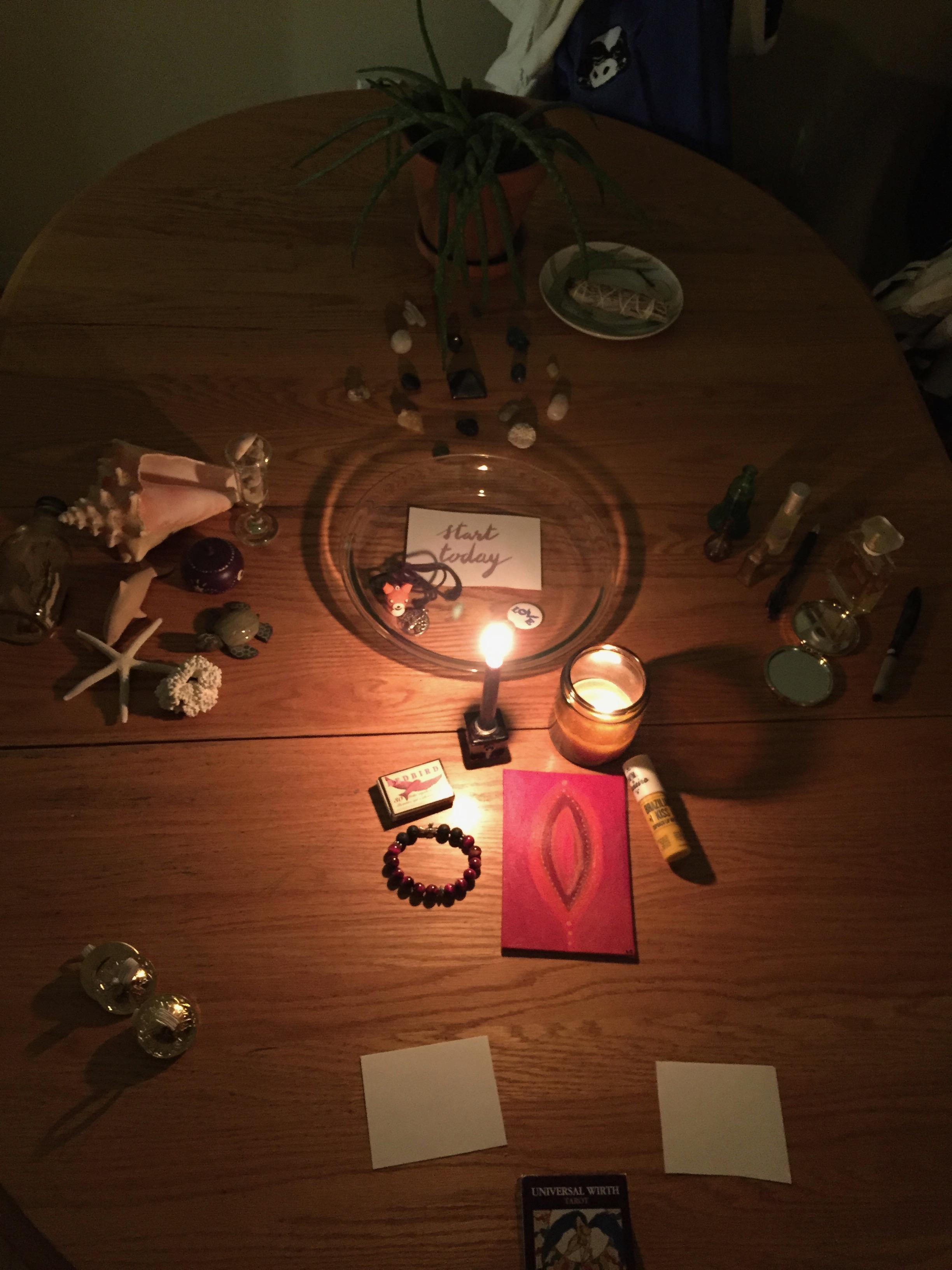 Our magic moon altar