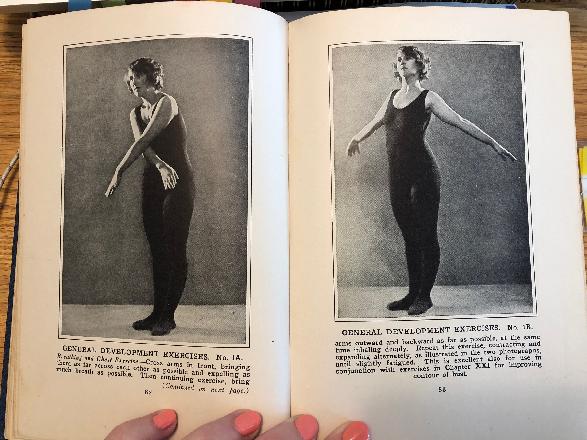 The importance of exercise while pregnant (though the model is not) looks kinda like a hip-hop dance.