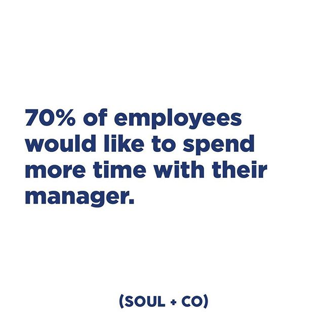 Both you and your employee will reap the benefits from taking the time to connect on a human level. #embracesoul #soulandco