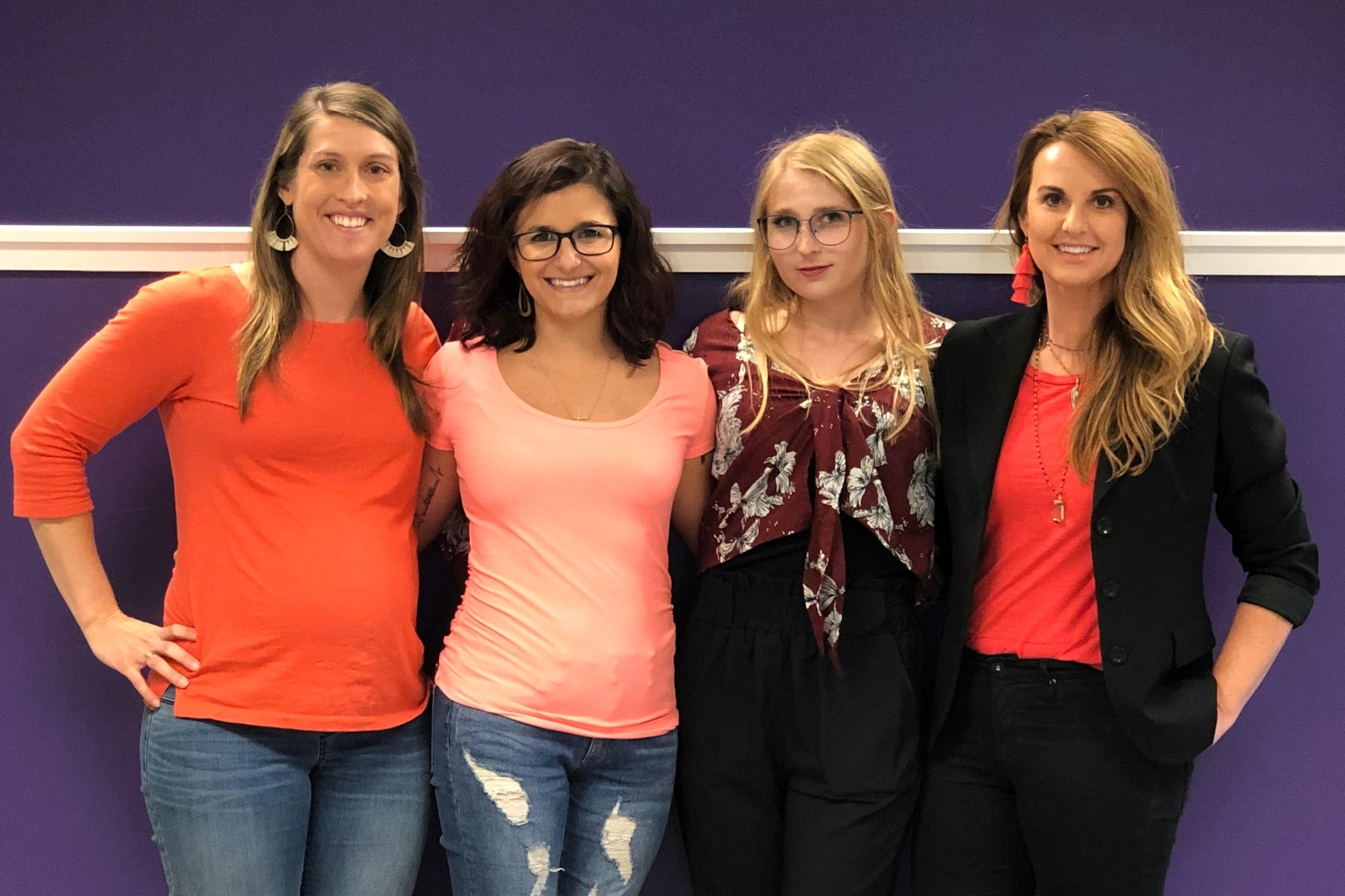 Current and prior military spouses! From left, Melanie, Bre, Sophie, and Kim.