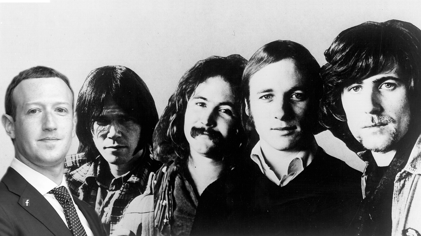 Crosby, Stills, Nash, Young, and Zuckerberg