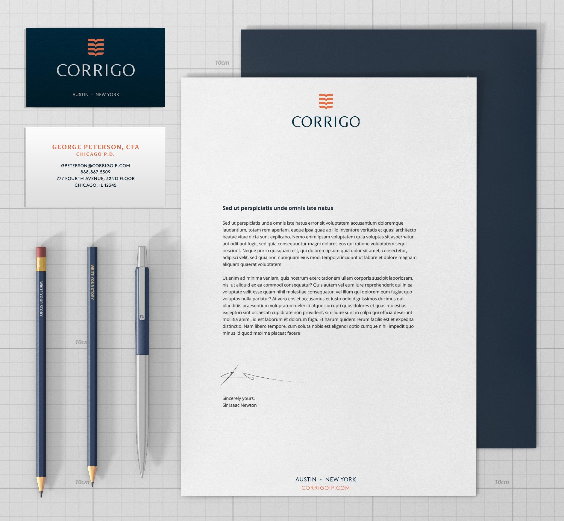 CLIENT : Corrigo - Research, Strategy, Design, Digital Marketing