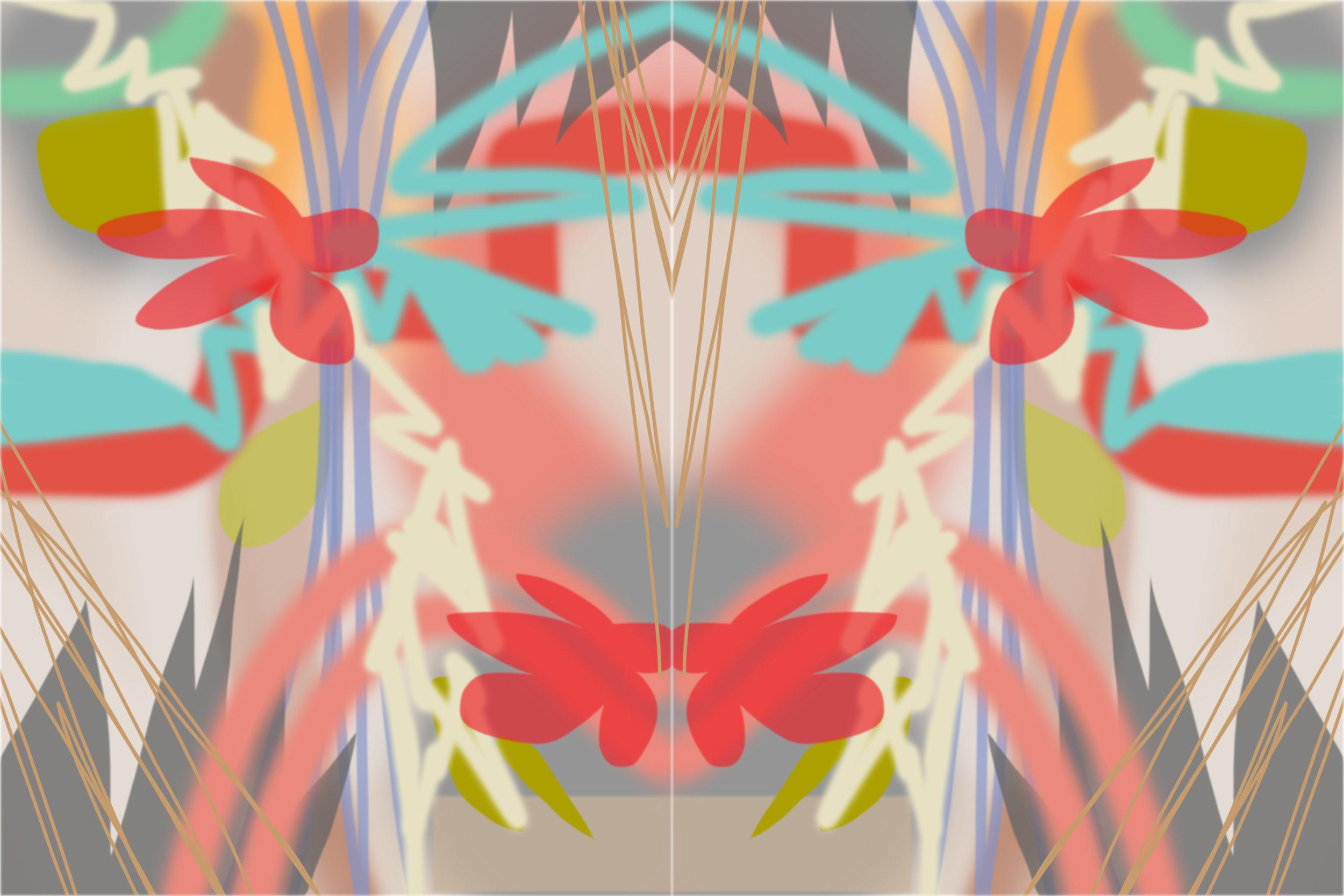 "Tropics Mirrored,    pigment print, 20""X30"" cPollyNorman2019"