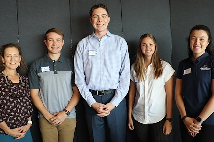 Dr. Lauren Heine and the Gonzaga student team, Erik Allen, Anthony Adamek, Cassidy Lomas, and Coral NGC.