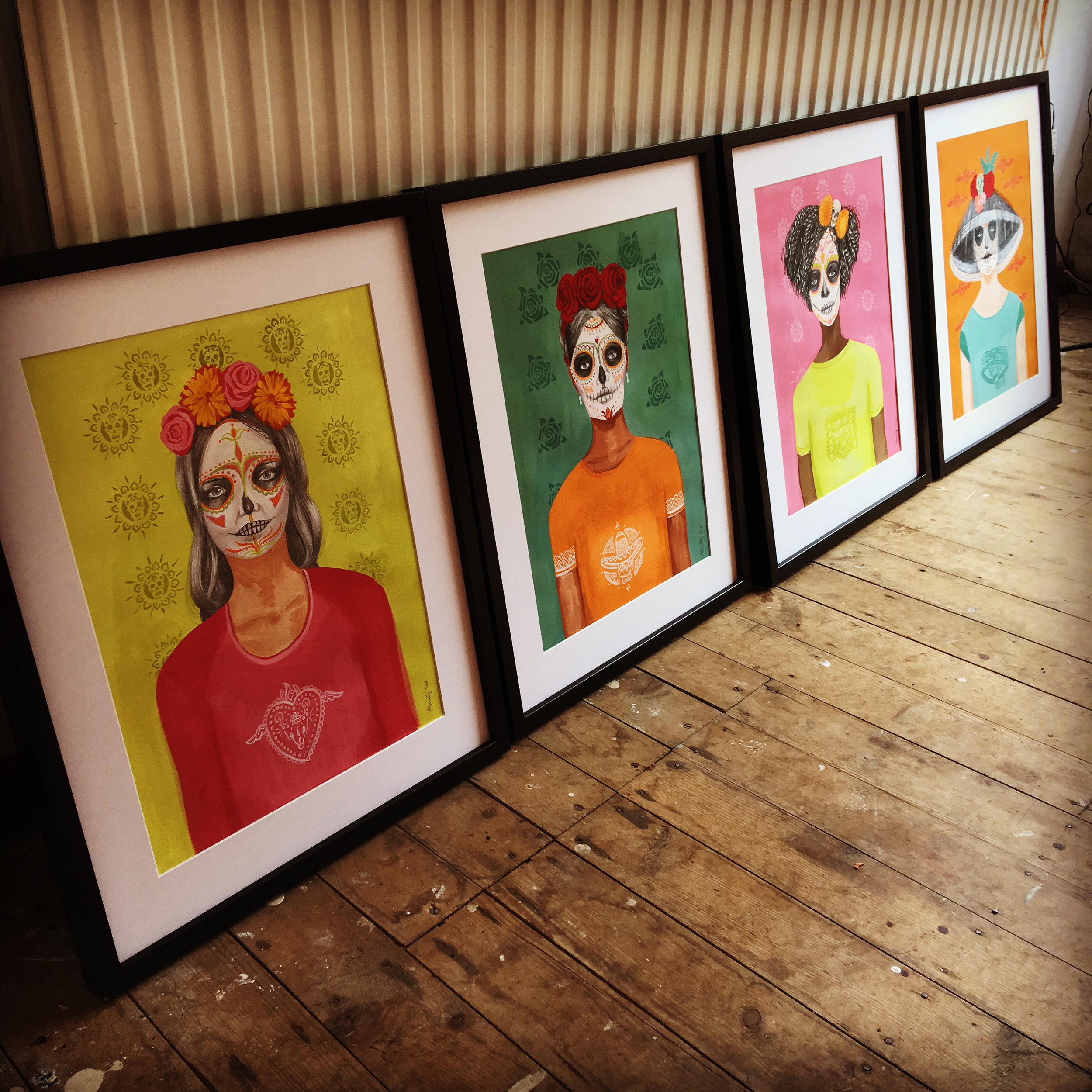 Framing the images ready for Legacy Arts Gallery
