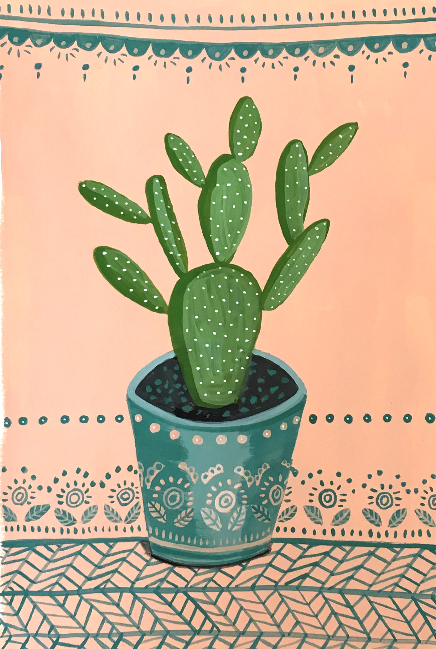 Cactus and the pattern