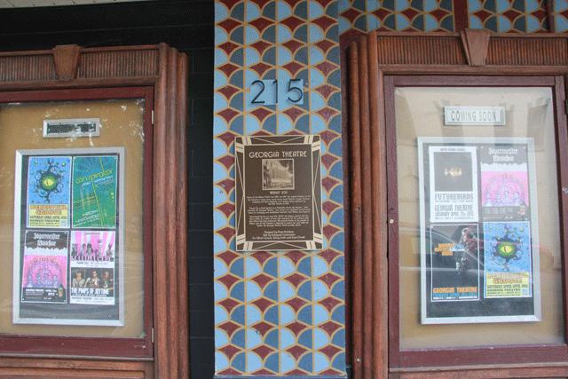 art deco facade georgia theatre