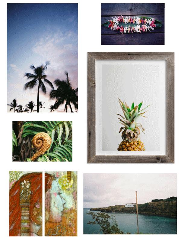 hawaii gallery wall