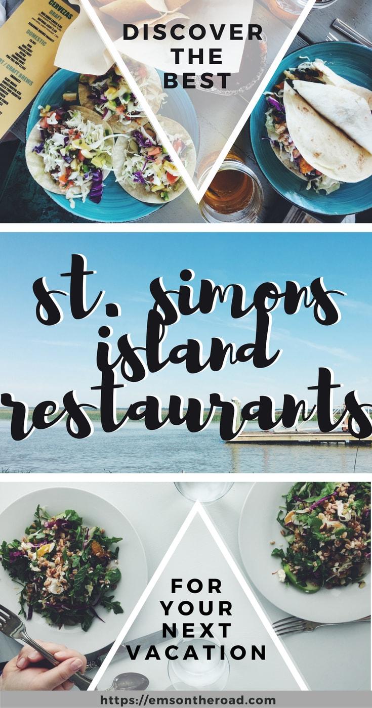 St. Simons Island Restaurants | Em's on the Road