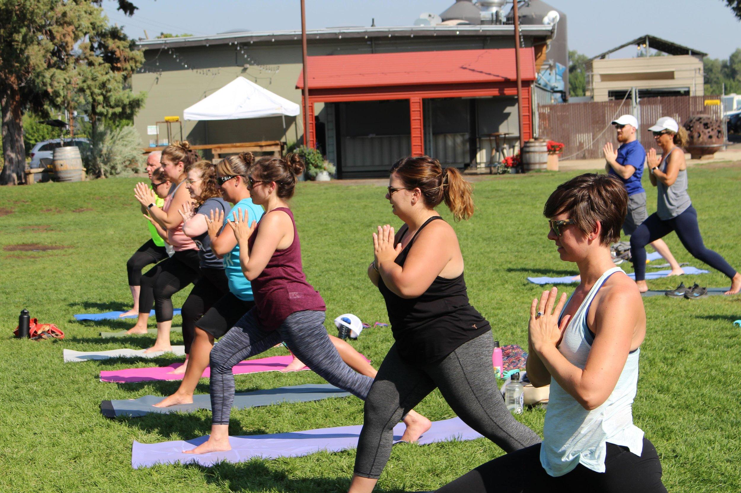 beer yoga oregon