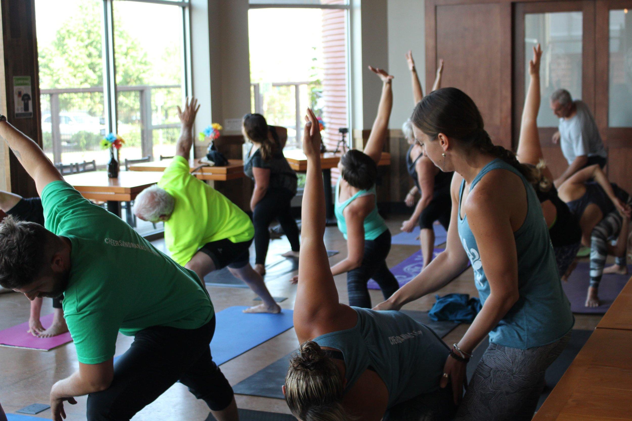 yoga + beer class