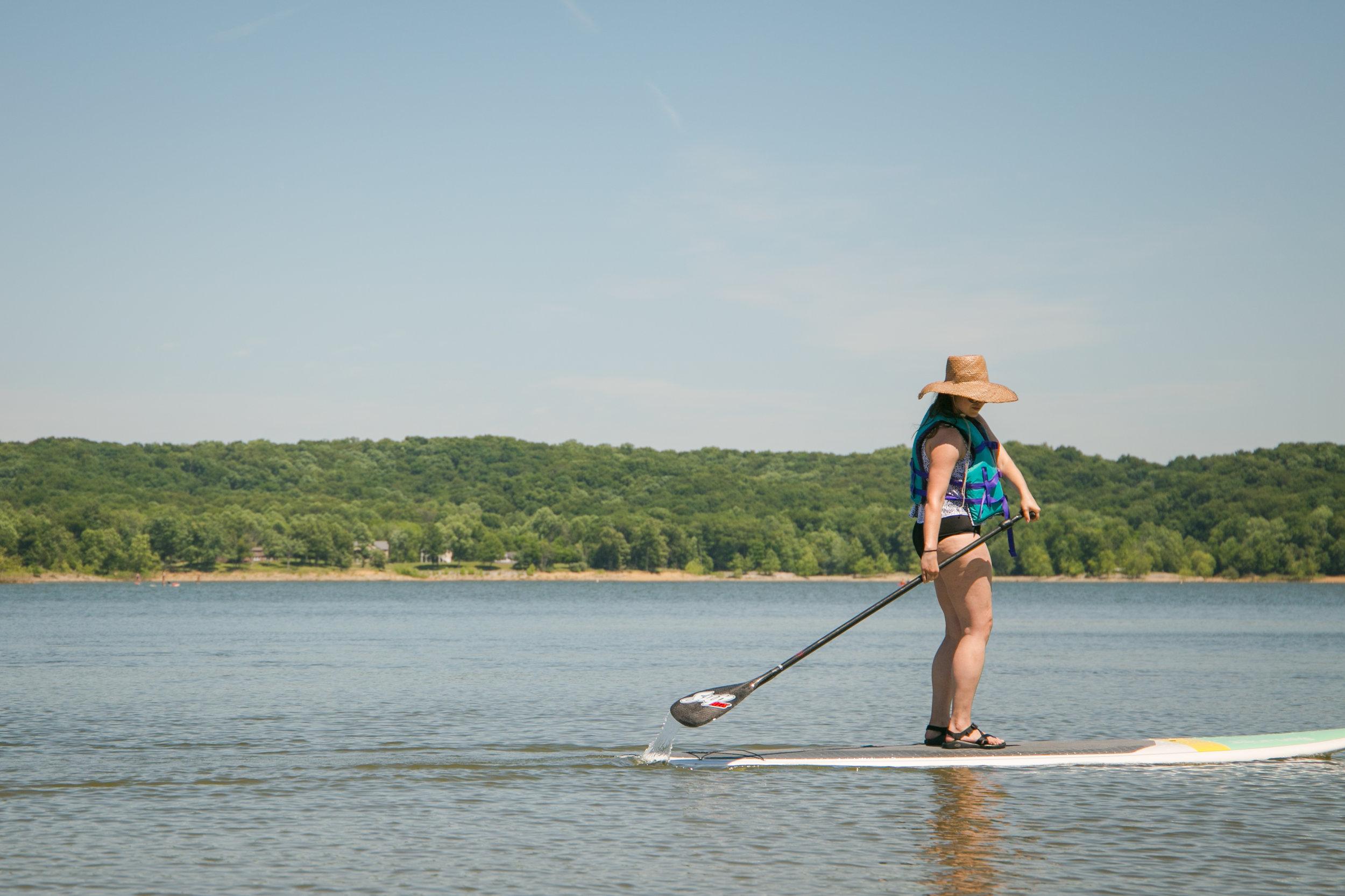 Stand up paddle boarding monroe lake