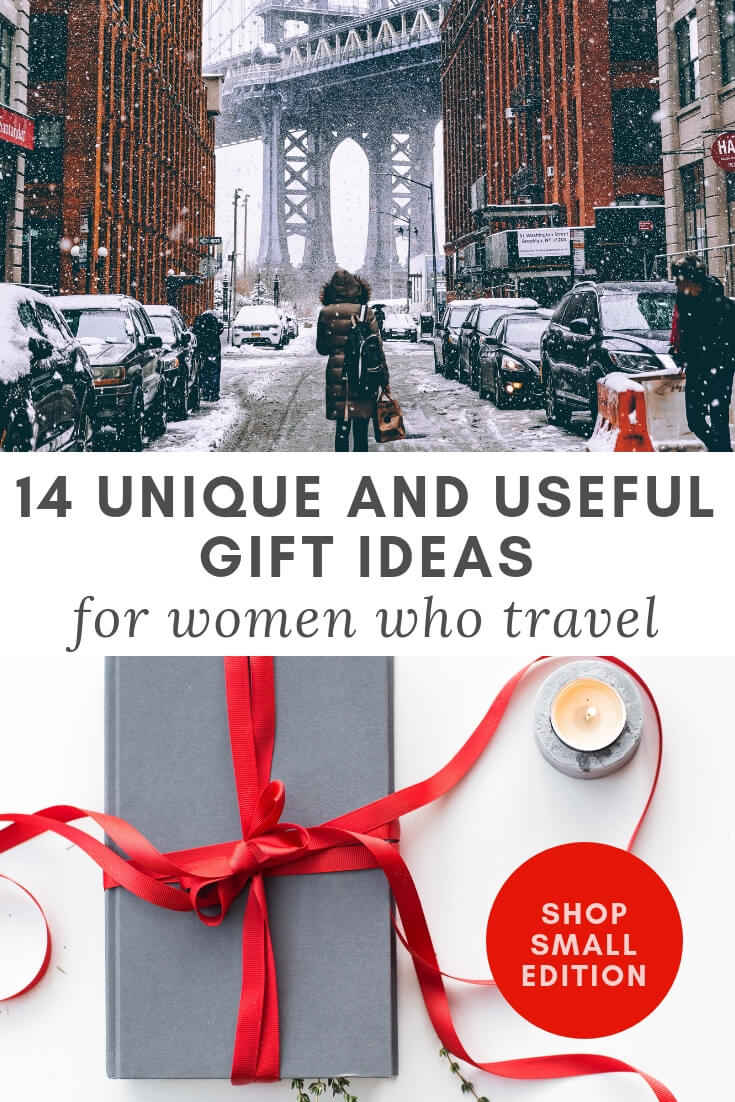 Unique and Useful Gift Ideas for Women Who Travel: Small Business Edition #shopsmall #giftguide