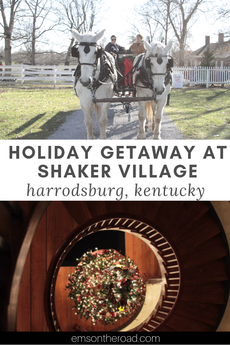 Holiday Fun at Shaker Village in Harrodsburg, Kentucky