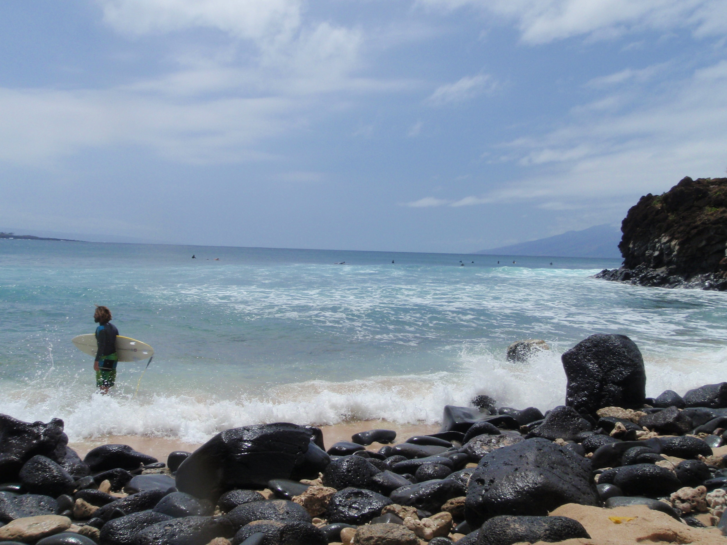 Ryan surfing on the west side of Maui