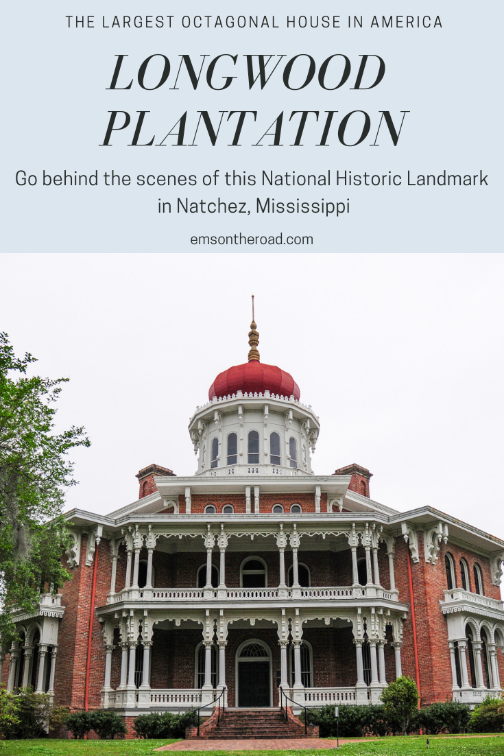 Longwood Plantation in Natchez, Mississippi. Tour this incredible National Historic Landmark and see the inside of its 16-sided onion dome cupola. Photo: Michael McCarthy via Flickr