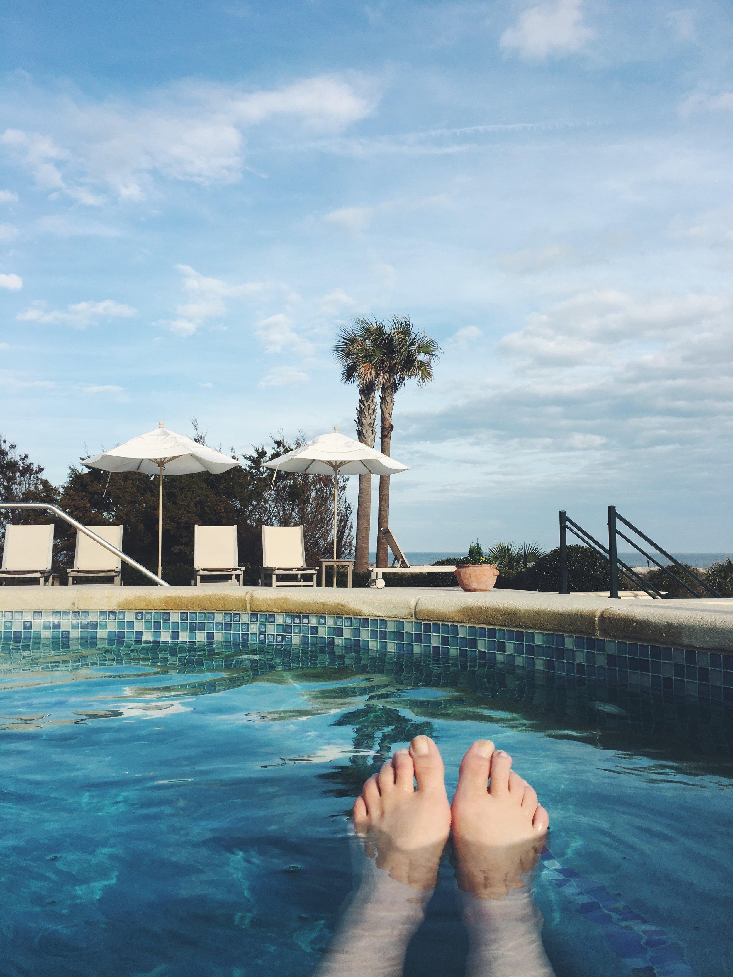 Oceanfront pool at Sea Island's Ocean Residences