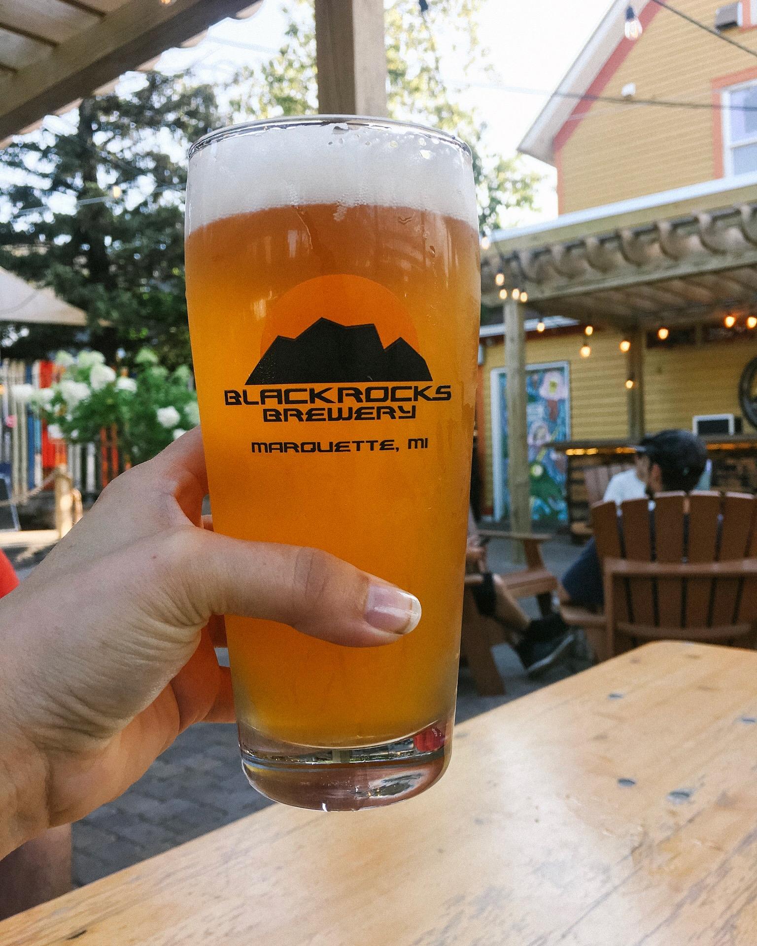 Blackrocks Brewery Patio, Marquette, Michigan #puremichigan #craftbeer