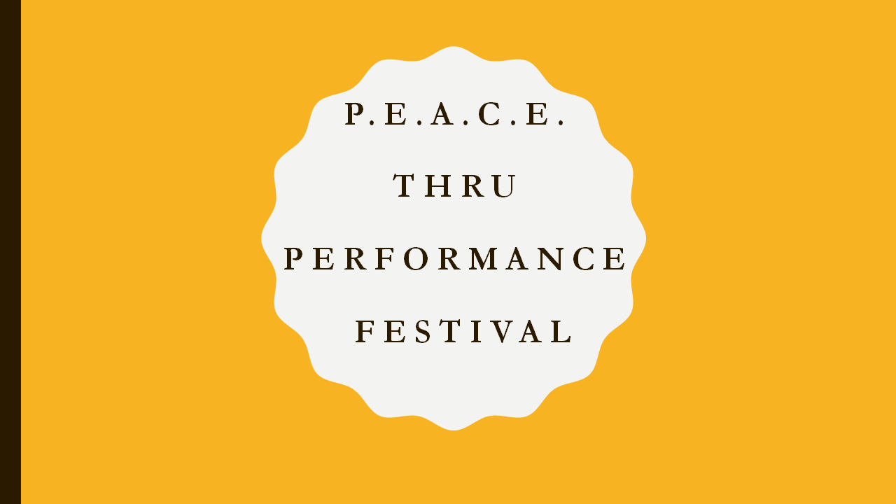 P.E.A.C.E. thru Performance (Festival/Series)    is a formation boot camp taking inner city youth and setting them on a journey through the world of live production.  Our platform utilizes creativity, performance, and self-awareness to support the needs of the youths in the community.