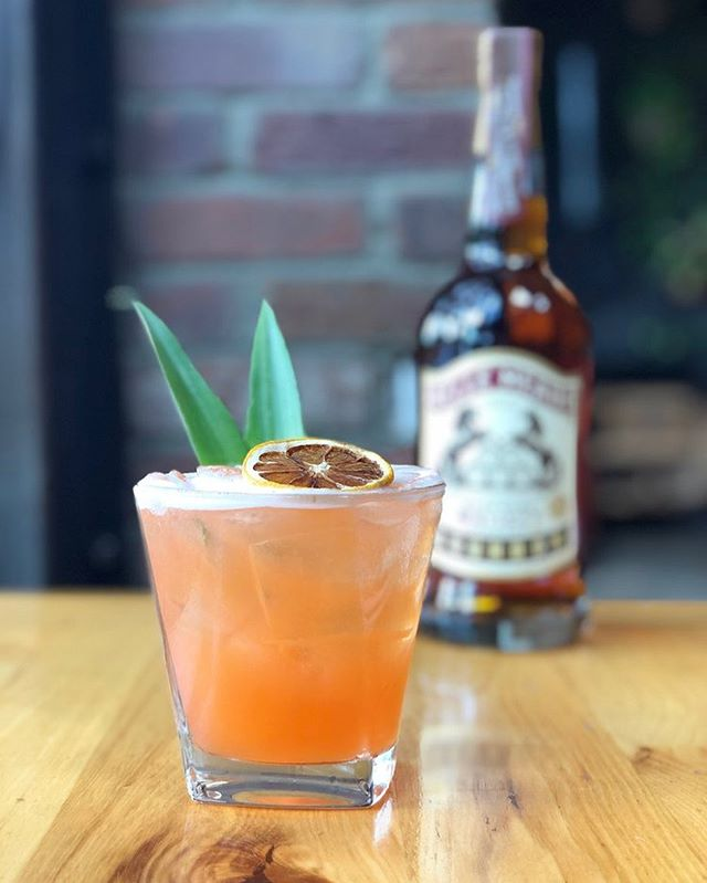 """Saved by the Belle"" showcases a phenomenal bourbon in a Tiki Style cocktail, created by Meghan McCaskill from @pratowp:  1.5 oz Belle Meade Sour Mash Bourbon .75 oz House-made Rhubarb Simple .75 oz Aperol .75 oz Pineapple Juice .75 oz Lemon Juice  Rigorous shake, and fine strain to aerate and assist with viscosity. Garnish with a Pineapple frond and Dehydrated Lemon wheel coming from the same fresh fruit and juice in the recipe."