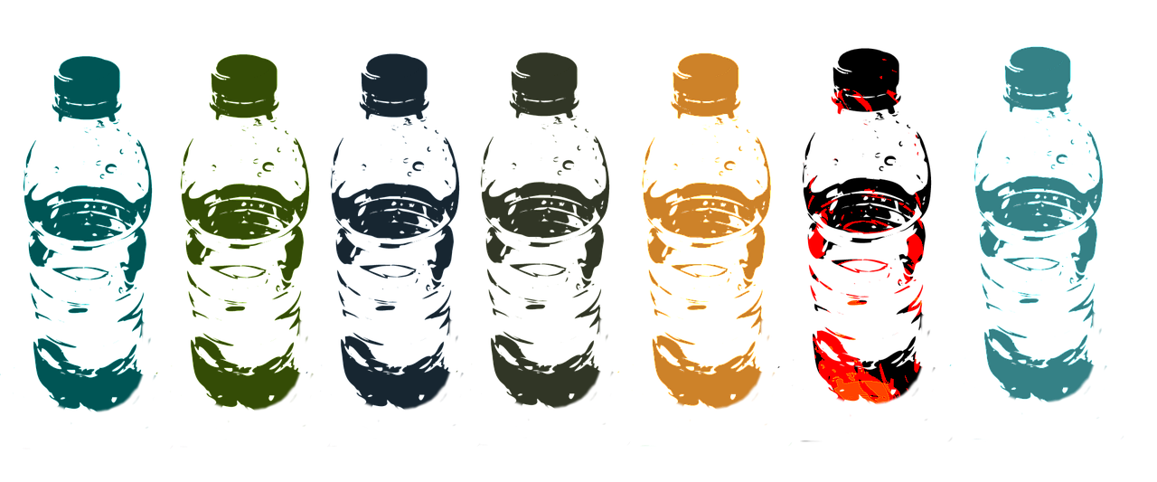 Picture of water bottles