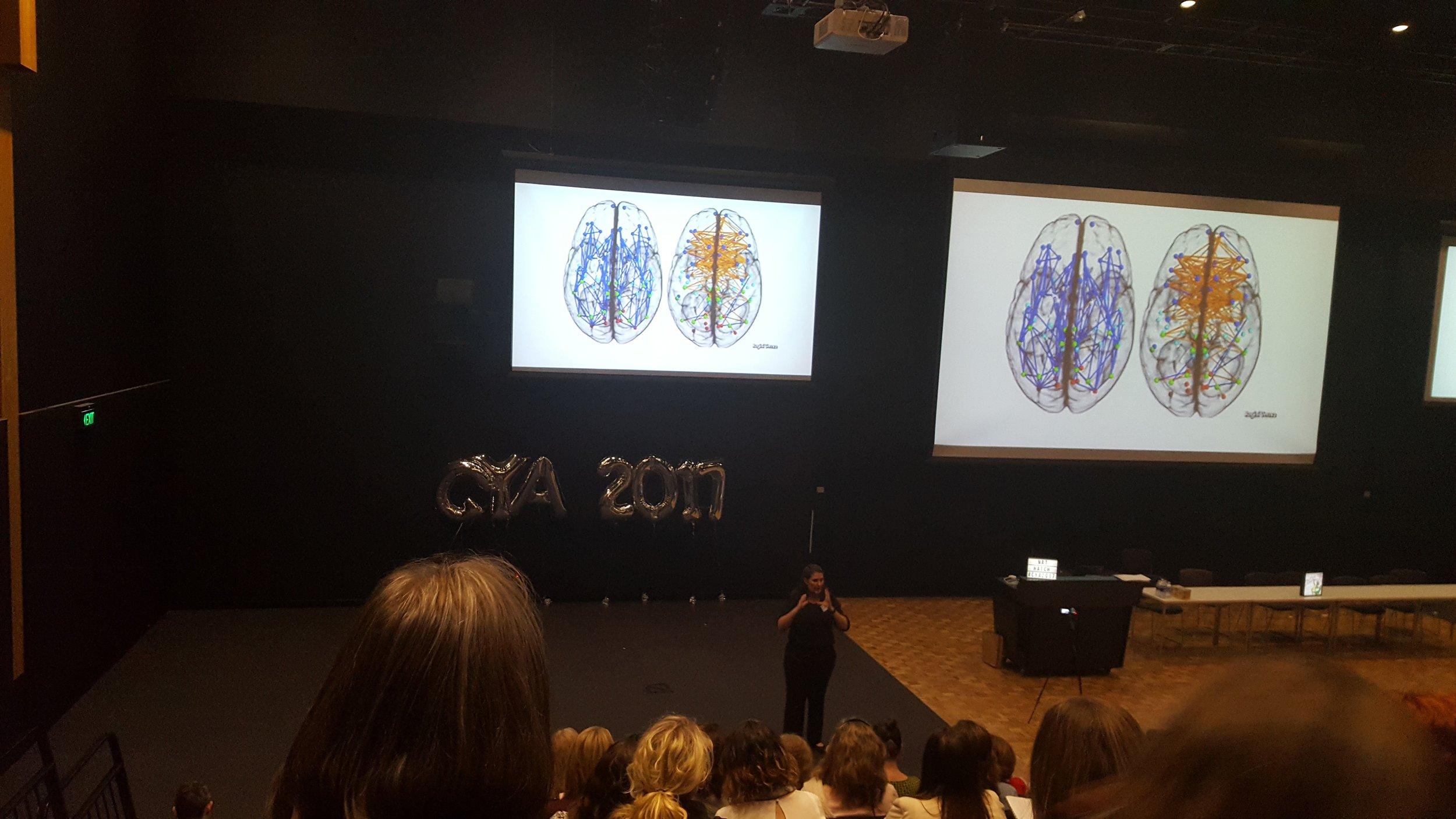 Natalie Hatch speaking at CYA 2017